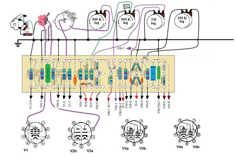 Fender Ch  5c1 Wiring Diagram together with Ukhansen10 besides Tone 20Control 20and 20EQs furthermore Fender Super Twin Reverb Schematic moreover Schematics. on diagram for guitar tube schematic